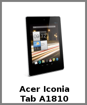 Acer Iconia Tab A1810